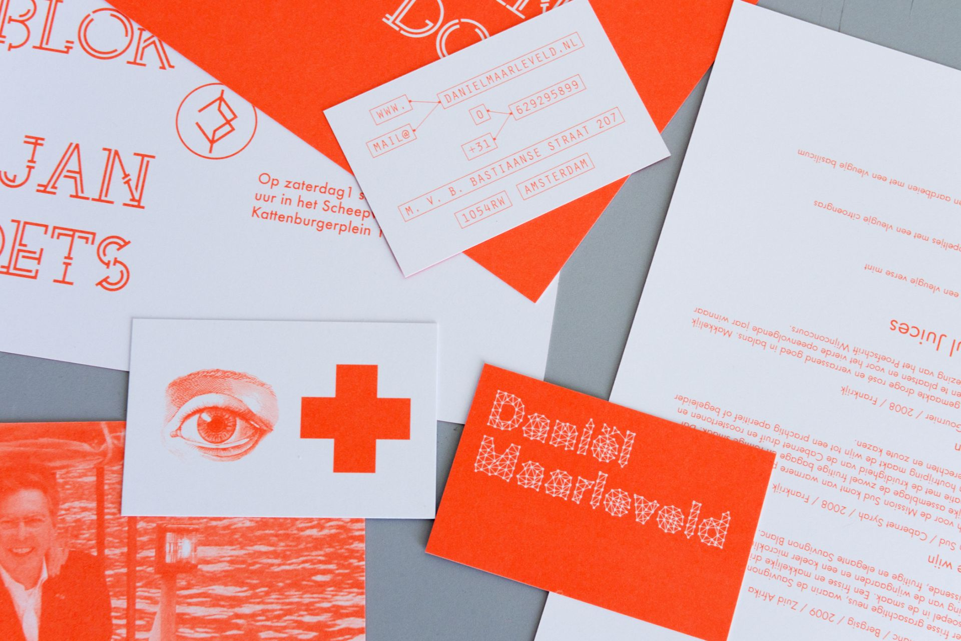 Daniël Maarleveld Fluor invitations and business cards